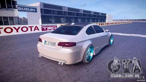 BMW E92 para GTA 4 vista superior