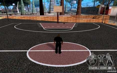 A nova quadra de basquete para GTA San Andreas por diante tela