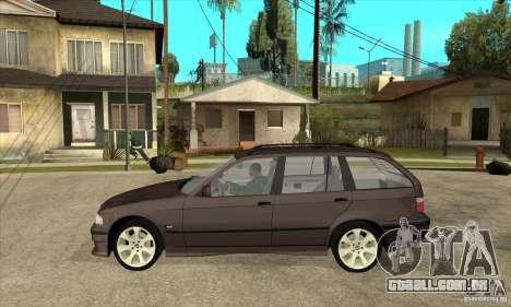 BMW 318i Touring para GTA San Andreas traseira esquerda vista