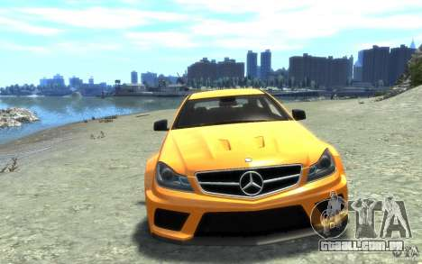 Mercedes-Benz C63 AMG 2012 para GTA 4 vista interior