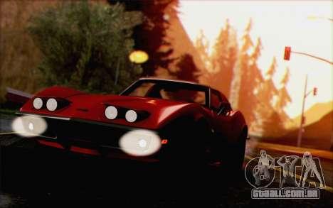 Chevrolet Corvette C3 Stingray T-Top 1969 para GTA San Andreas vista traseira