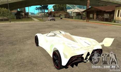 Mazda Furai para GTA San Andreas traseira esquerda vista