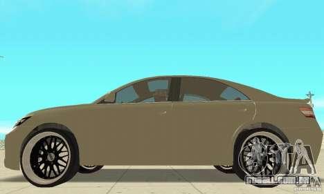 Toyota Camry Tuning 2010 para GTA San Andreas traseira esquerda vista