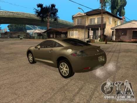Mitsubishi Eclipse para GTA San Andreas esquerda vista