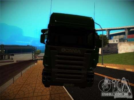 Scania R580 para GTA San Andreas vista interior