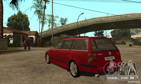 VW Passat B5 Variant para GTA San Andreas traseira esquerda vista