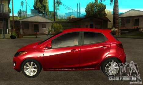Mazda 2 2011 para GTA San Andreas esquerda vista