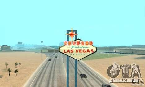 Welcome to Las Vegas para GTA San Andreas por diante tela