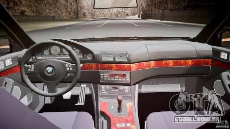 BMW 530I E39 stock white wheels para GTA 4 vista superior