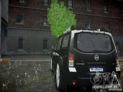 Nissan Pathfinder 2010 para GTA 4 traseira esquerda vista