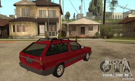 VW Parati GL 1994 para GTA San Andreas vista direita