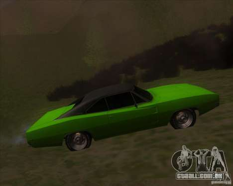 Dodge Charger RT 1968 para GTA San Andreas esquerda vista