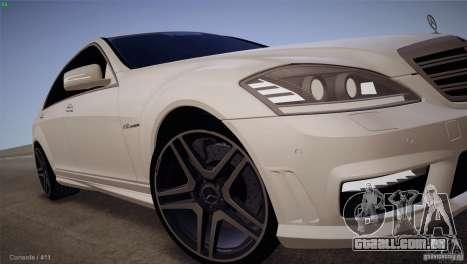 Mercedes-Benz S65 AMG para GTA San Andreas vista traseira