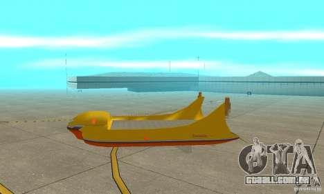 Plataforma aérea transportadora para GTA San Andreas traseira esquerda vista