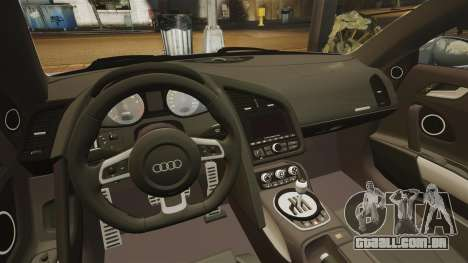 Audi R8 para GTA 4 vista lateral