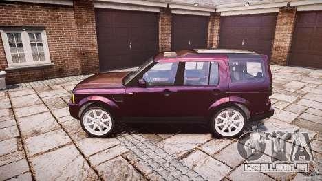 Land Rover Discovery 4 2011 para GTA 4 esquerda vista