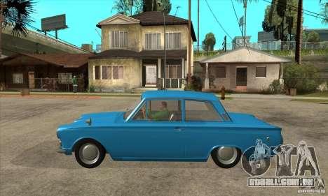 Lotus Cortina Mk1 1963 para GTA San Andreas esquerda vista