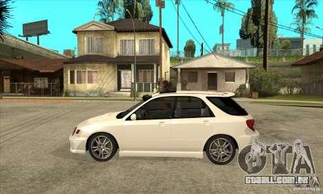 Subaru Impreza WRX Wagon 2002 para GTA San Andreas esquerda vista