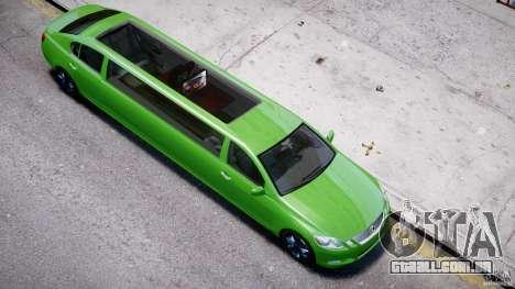 Lexus GS450 2006 Limousine para GTA 4 vista inferior