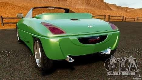 Daewoo Joyster Concept 1997 para GTA 4 traseira esquerda vista