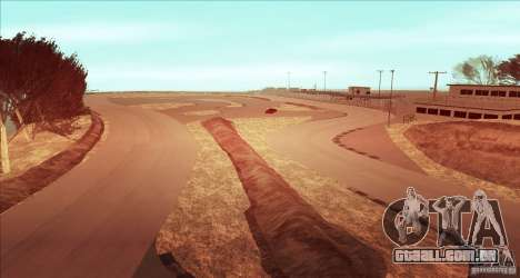 The Ebisu South Circuit para GTA San Andreas por diante tela