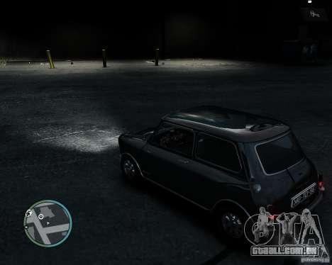 Austin Mini Cooper S para GTA 4 vista de volta