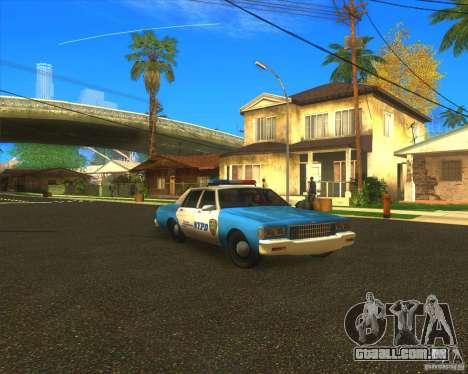 Chevrolet Caprice Classic 1986 NYPD para GTA San Andreas vista traseira