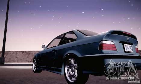 BMW E36 M3 Coupe - Stock para GTA San Andreas esquerda vista