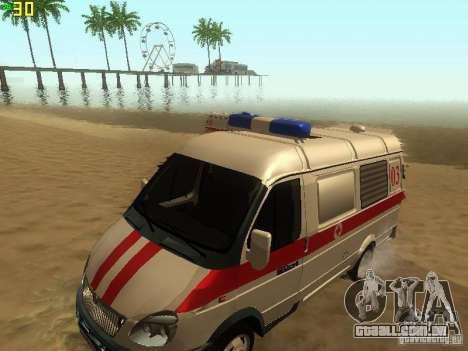 Ambulância de gazela 32214 para GTA San Andreas vista direita