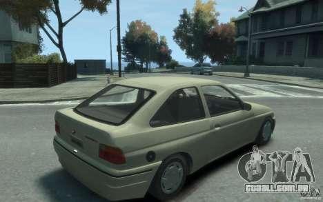Ford Escort L 1994 para GTA 4 vista direita