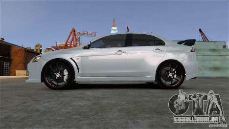 Mitsubishi Lancer Evo X para GTA 4 vista direita