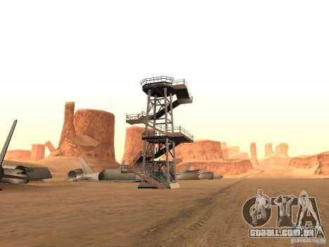 Novas instalações para o aeroporto no deserto para GTA San Andreas terceira tela
