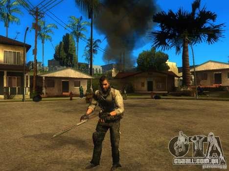 Animation Mod para GTA San Andreas por diante tela