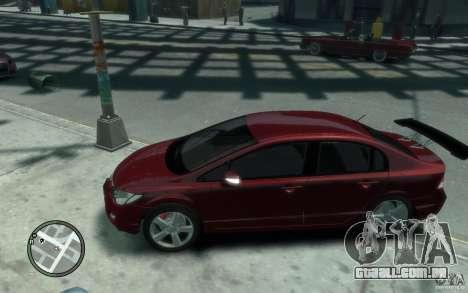 Honda Civic 2006 para GTA 4 esquerda vista