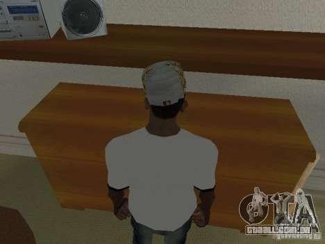 New Era White cap para GTA San Andreas segunda tela