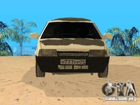 VAZ inverno 21099 para GTA San Andreas vista direita