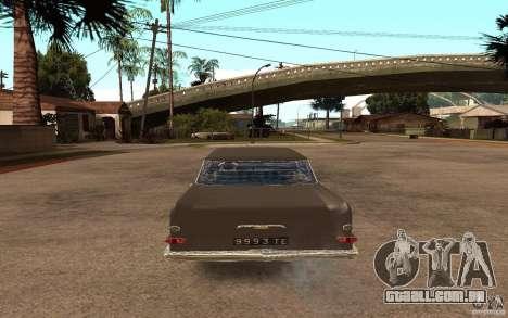 Opel Kapitan para GTA San Andreas traseira esquerda vista
