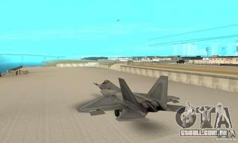 YF-22 Grey para GTA San Andreas traseira esquerda vista