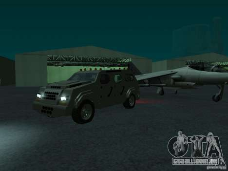 FBI Truck from Fast Five para GTA San Andreas traseira esquerda vista