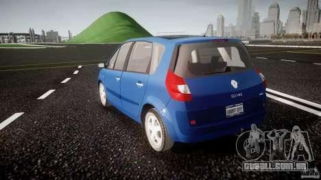 Renault Scenic II Phase 2 para GTA 4 traseira esquerda vista