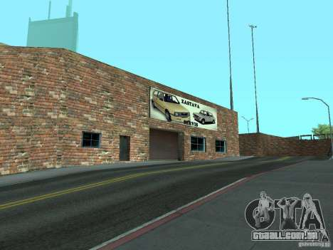IMW Old Zastava Car Showroom para GTA San Andreas por diante tela