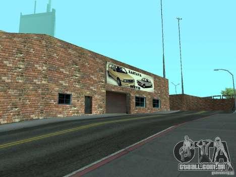 IMW Old Zastava Car Showroom para GTA San Andreas por diante tela