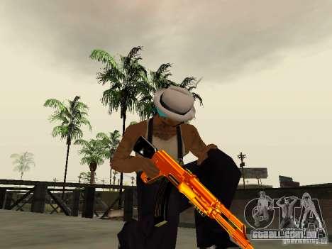 Black and Yellow weapons para GTA San Andreas por diante tela