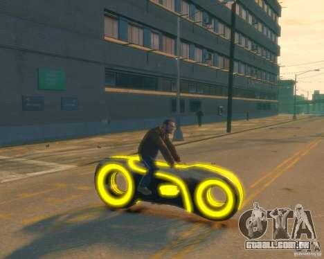 Motocicleta do trono (amarelo neon) para GTA 4 vista direita