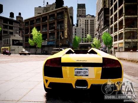 Lamborghini Murcielago LP650-4 Roadster para GTA 4 vista de volta