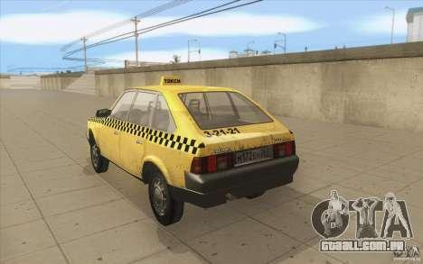 AZLK Moskvich 2141 táxi v2 para GTA San Andreas traseira esquerda vista