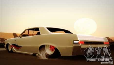 Pontiac GTO Drag Shark para GTA San Andreas vista superior