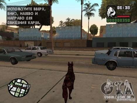 Cerberus de Resident Evil 2 para GTA San Andreas terceira tela