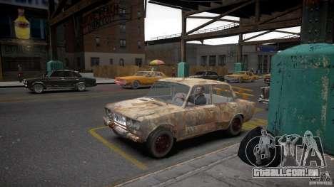 Rusty 2106 VAZ para GTA 4 vista de volta