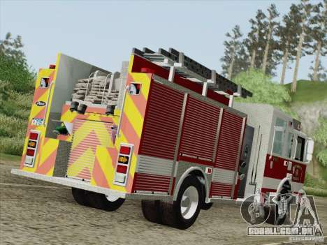 Pierce Pumpers. San Francisco Fire Departament para GTA San Andreas vista direita